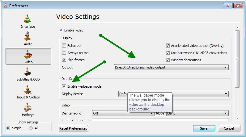 VLC video preference How to Set Video as Desktop BackGround using VLC media Player?
