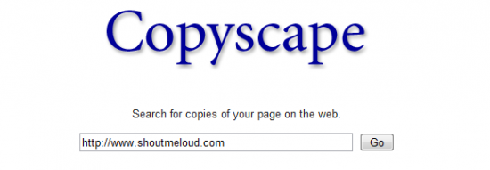 copyscape plagiarism 550x191 CopyScape: Blogger Tool to find Who is Copying your post