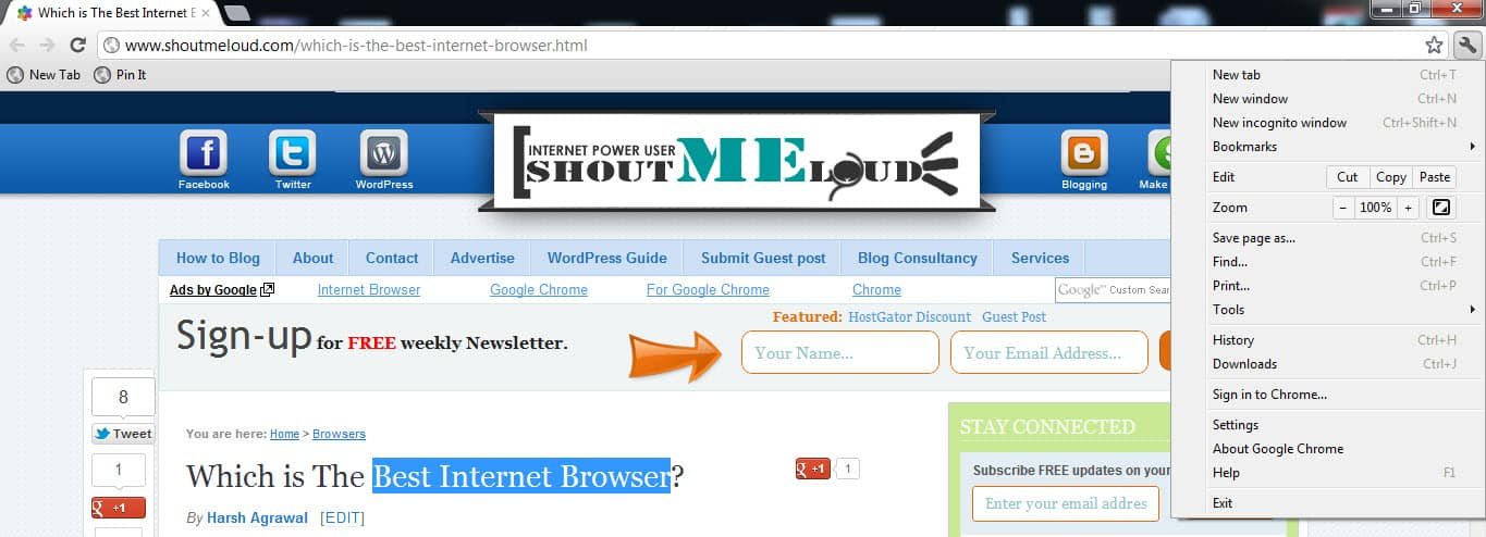 Chrome Browser Which is The Best Internet Browser?