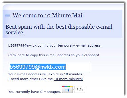 10 minutes Mail Working List of Temporary Email Services
