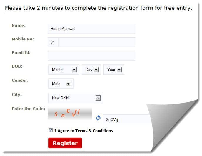 160by2 registration page 160by2 : Send Free SMS to India [Unlimited]