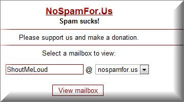 Nospam Working List of Temporary Email Services