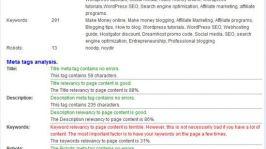 SubmitExPress Analyzer: Meta Tag Analyzer & Keyword Density Checker