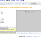 Embed Picasa picture in blog and website