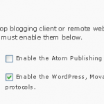 remote publishing settings 150x150 http://<hostname>/<wp path>/xmlrpc.php Error in Windows Live writer