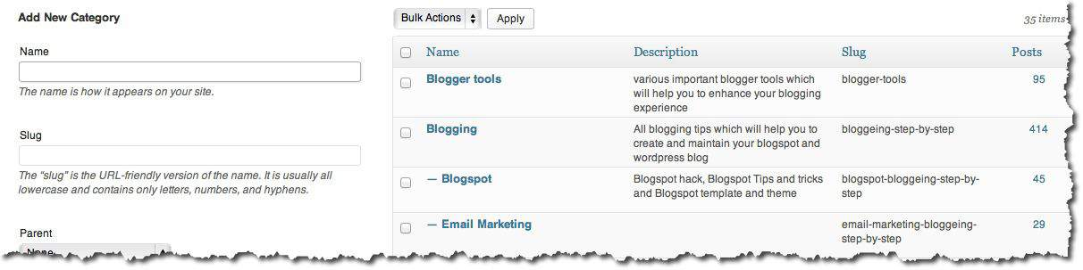 WordPress categories WordPress Categories and SEO