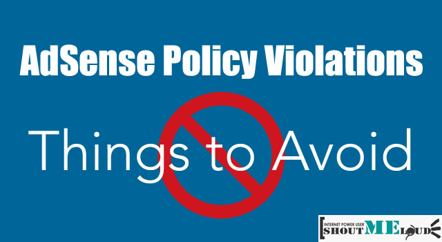 Adsense Policy Violations