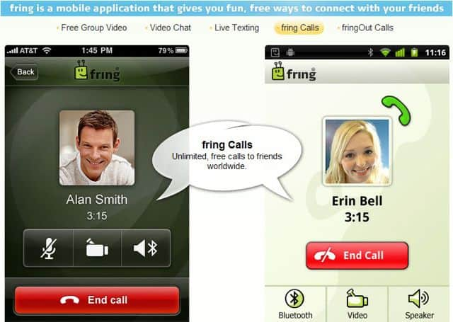 Fring Calls Fring : Free Voice Calls, Video calls and Text