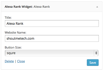 Alexa WordPress plugin