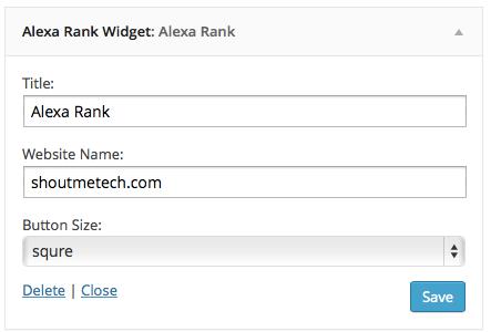 Alexa WordPress plugin