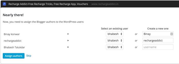 Associate BlogSpot user to WordPress