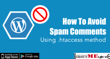 How To Avoid Spam Comments on WordPress Using .htaccess method