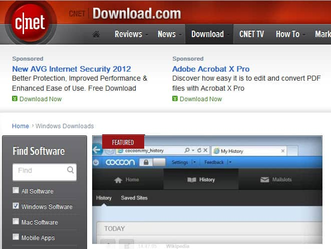 Download.com  Download Softwares with These Free Sites