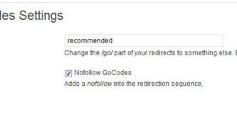 Gocodes WordPress Plugin: Affiliate Link Cloaker Plugin for WordPress