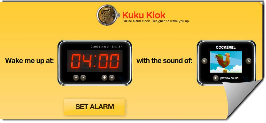 Kukuklok Useful Free Online Alarm Clock Websites