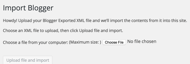 Upload XML file to WordPress
