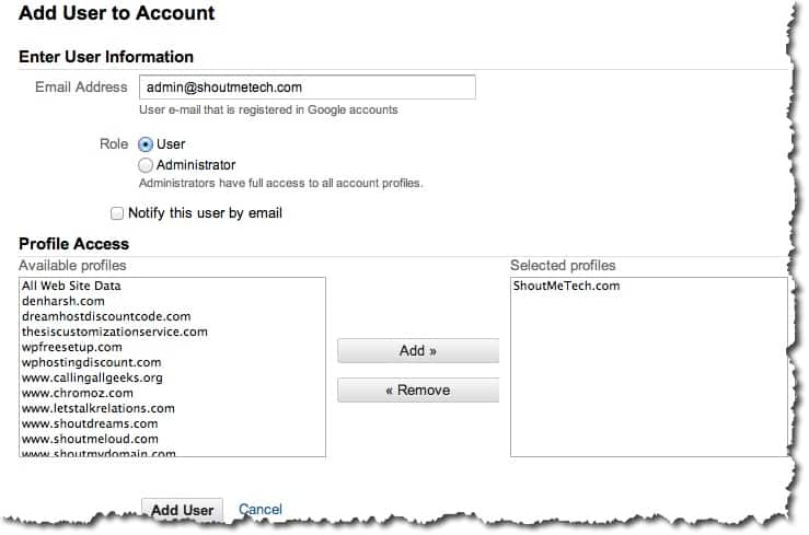 Users and roles in Google Analytics