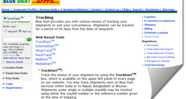 How to use Blue Dart Tracking for Adsense Payment?