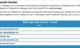 How to Check Google Page Rank in Bulk