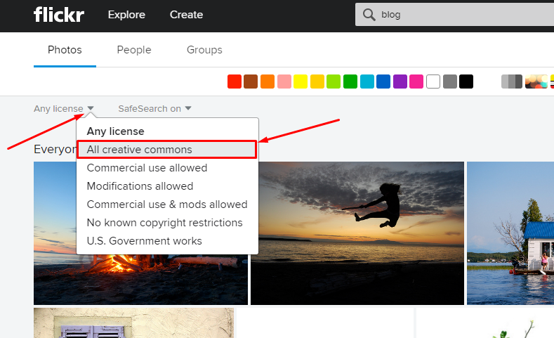 Find images with flickr