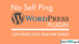 No Self Ping WordPress plugin: Stop Pinging Posts From Own Domain