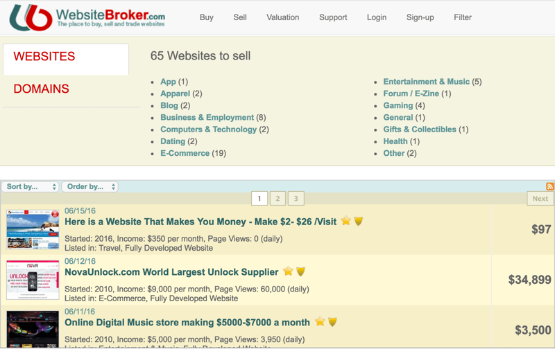 Website Broker