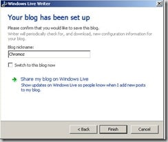 blog name window live writer thumb How to Configure Window Live Writer for WordPress blogs