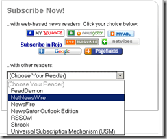 feed subscroption options thumb What is RSS feed?