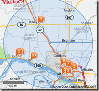 yahoo local map service thumb Top 8 Online Free map Applications to find any Geographical Location