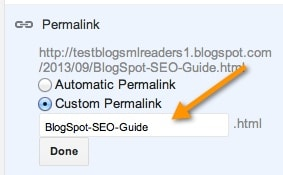 Custom BlogSpot Permalink
