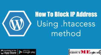 How To Block IP Address Using .htaccess method