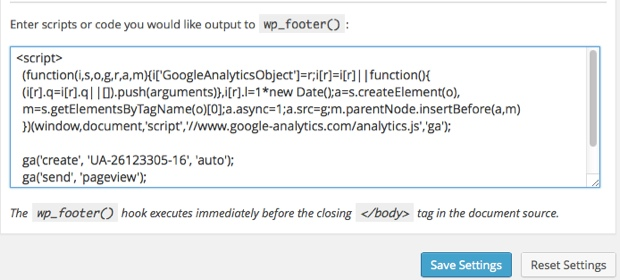 where to put google analytics code wordpress