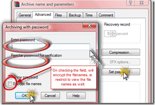 image thumb3 Encrypting your files with Password Protection using Winrar 128bit