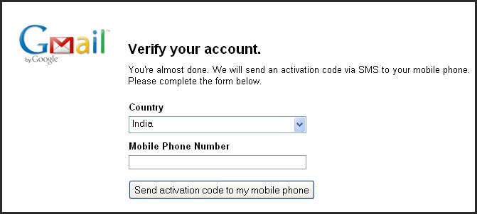 7 8 2009 12 06 58 pm Gmail Asking for Mobile number to activate Google account