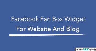 Facebook Fan Box Widget for Website And Blog