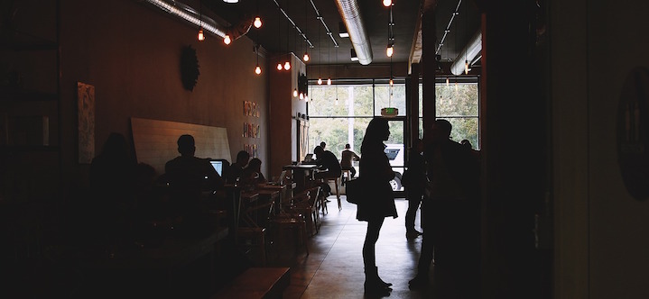Find a coffee shop or co-working space