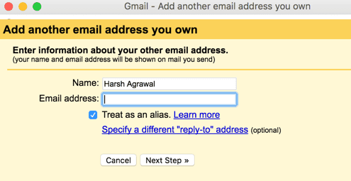 Gmail domain alias
