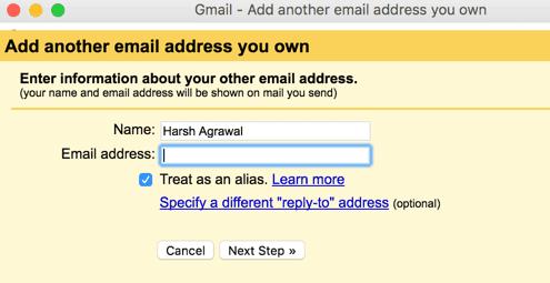 Gmail domain alias