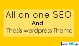 All on one SEO and Thesis wordpress Theme