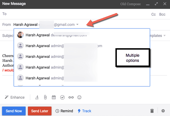 Use multiple email account using one Gmail