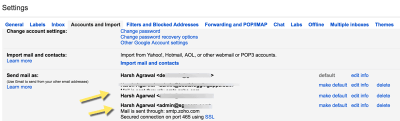 Multiple Gmail accounts into One