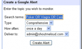 Use Google Alert to find if your Website is Hacked