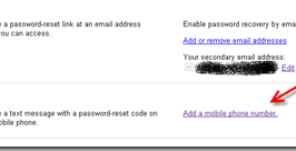 Recover Gmail lost password Via Mobile SMS