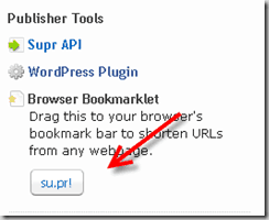 supr book thumb Su.pr Bookmarklet For URL shortener and Traffic