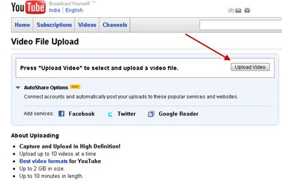 upload thumb Youtube Upload Limit Increases