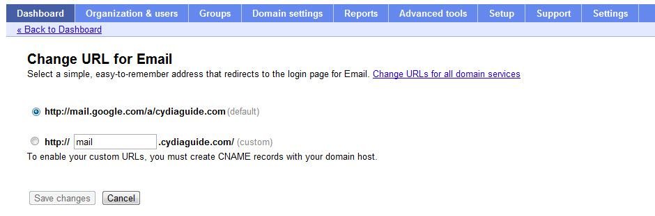 Change Email dashboard login How To Create Free Email with own Domain using Google Apps