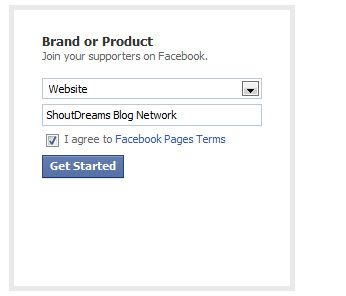 Facebook fan Page Website Category How to Create A Facebook Fan Page For Your Blog