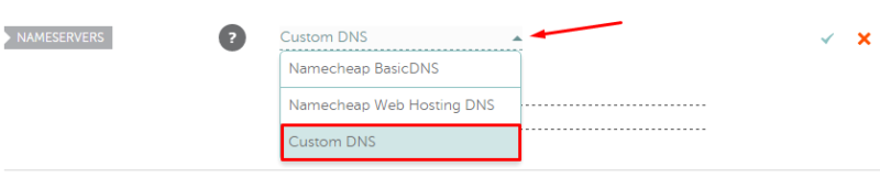 Set Namecheap DNS