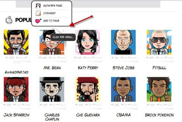 Popular Avatars Face Your Manga : Create Free Avatars Online