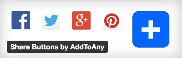 Share buttons by Add to any 4 Best Social Media WordPress Plugin of 2014